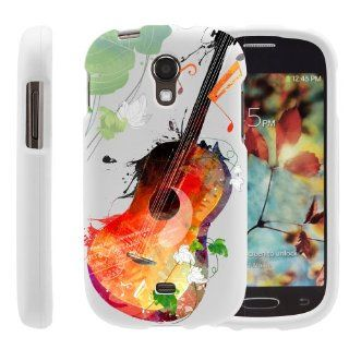 MINITURTLE, Slim Fit Graphic Design Image 2 Piece Snap On Protector Hard Phone Case Cover, Stylus Pen, and Clear Screen Protector Film for Prepaid Android Smartphone Samsung Galaxy Light SGH T399 /T Mobile (Serene Guitar) Cell Phones & Accessories