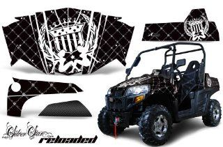 AMR Racing Bennche Spire 800 UTV Graphics Silver Star Reloaded   Black White Graphics Kit Automotive