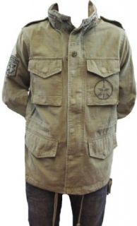 Obey/Al Rockoff Make Art Not War Men's M65 Military jacket (Small, Army) at  Men�s Clothing store