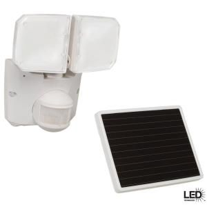 Defiant 180 Degree Outdoor Motion Activated Solar Powered White LED Security Floodlight MSLED1801WDF