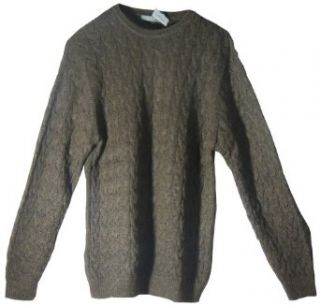 SWEATER Baby Alpaca wool Crew Neck mens brown L Made in Peru trds6 at  Men�s Clothing store