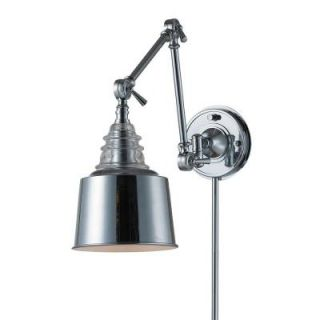 Titan Lighting 1 Light Wall Mount Polished Chrome Swing Arm Sconce TN 7803