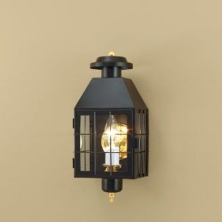 Norwell Lighting 1059 bl cl American Heritage Outdoor Wall In Black (Clear Shade)   Lighting Products