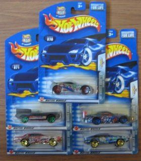 Hot Wheels 2003 Anime Series COMPLETE Set   Seared Tuner, Jaguar D Type, '68 Cougar, Olds Aurora GTS 1, Olds 442 Toys & Games