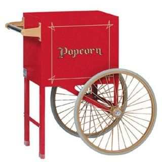 Gold Medal 2659CR Popcorn Cart w/ 2 Spoke Wheels, Red, Each   Electric Popcorn Poppers