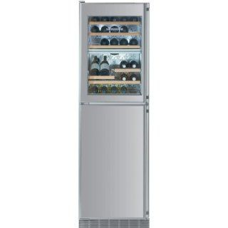 Liebherr Wfi 1061 34 Bottle Built in Wine Cooler With Freezer / Ice Maker   Custom Panel Door / Stainless Steel Cabinet Appliances