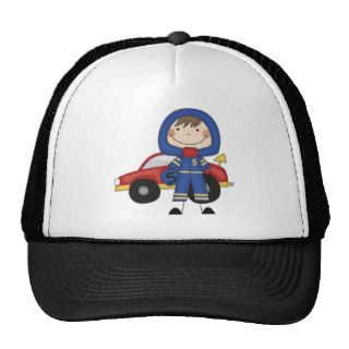Stick Figure Boy Race Car Driver Tshirts Hats