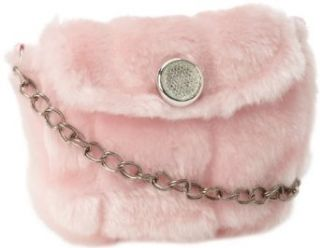 Mud Pie Baby girls Infant Faux Fur Handbag, Pink, One Size Clothing