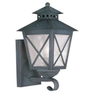Filament Design Providence Wall Mount 1 Light Outdoor Charcoal Incandescent Lantern CLI MEN2670 61
