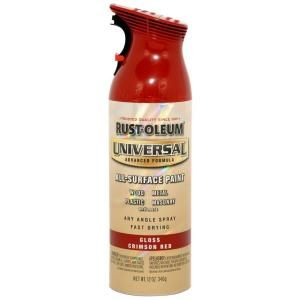 Rust Oleum Universal 12 oz. All Surface Gloss Crimson Red Spray Paint (6 Pack) 247562