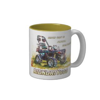 RIDNDRTY800 Quad Mud Truck Coffee Mugs