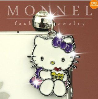 ip435 Cute Hello Kitty Cupcake Charm Anti Dust Plug Cover For iPhone 4 4S Cell Phones & Accessories