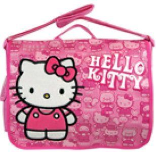 Sanrio HELLO KITTY Pink Messenger Bag School Work book bag canvas nice gift