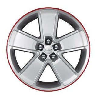 "GM # 19258031 21"" Wheel EA288 Rear 21"" x 9.5"" Painted Silver Spokes with Machined Face and Red Flange 5 Spoke Automotive"