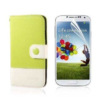 PU Leather Case Cover Pouch For Samsung Galaxy S4 I9500 + Free Film PC466Y Cell Phones & Accessories