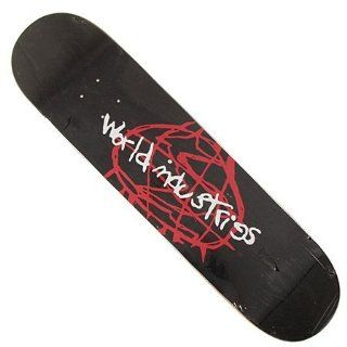 World Industries Logo Sketchy Skateboard Deck (7.75)  Sports & Outdoors