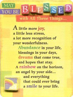Blue Mountain Arts May You be Blessed with All These Things Miniature Easel Back Print with Magnet (MIN454)