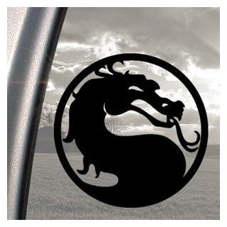 MORTAL KOMBAT DRAGON Black Decal Car Truck Window Sticker   Automotive Decals