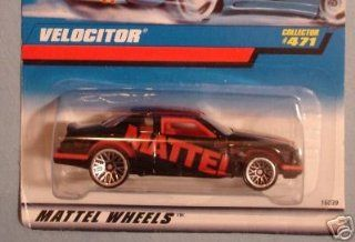 Mattel Hot Wheels 1996 164 Scale Black Velocitor Die Cast Car Collector #471 Toys & Games