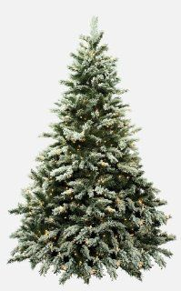 Bethlehem Lights 7 1/2 Foot Flocked Telluride Christmas Tree Pre Lit with Clear Lamps