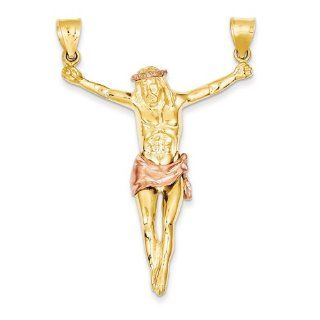 Corpus Pendant in 14kt White & Yellow Gold   Magnificent   Unisex Adult GEMaffair Jewelry