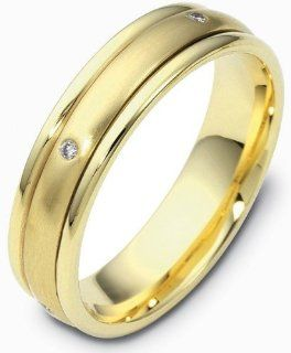 Unique Yellow 14 Karat Gold SPINNING Diamond Wedding Band Ring Jewelry