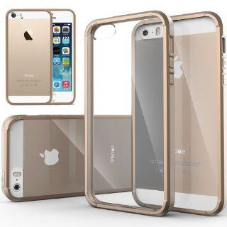 Caseology Apple iPhone 5/5S [Premium Fusion Series]   Slim Fit Hybrid Scratch Resistant Clear back thin Cover with Shock Absorbent TPU Protector Bumper Case (Almond Beige) [Made in Korea] (for Verizon, AT&T Sprint, T mobile, Unlocked) Cell Phones &