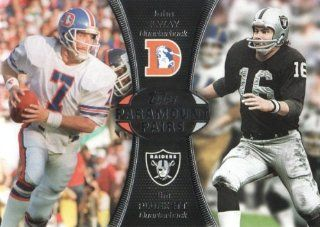 2012 Topps Football Paramount Pairs #PA EP John Elway Denver Broncos/Jim Plunkett Oakland Raiders NFL Trading Card Sports Collectibles