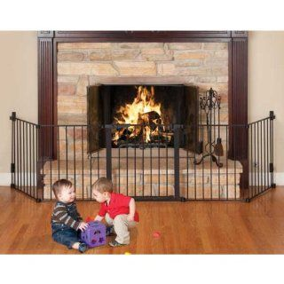 "Auto Close HearthGate Black 132"" x 31"" by Kidco  Indoor Safety Gates  Baby"
