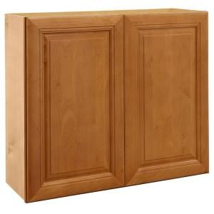 Home Decorators Collection Assembled 36x36x12 in. Wall Double Door Cabinet in Laguna Cinnamon W3636 LCN
