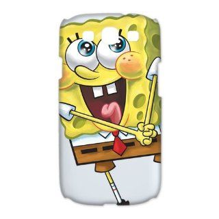 LVCPA Cute Cartoon SpongeBob SquarePants Printed Hard Plastic Case Cover for Samsung Galaxy S3 I9300 (6.28)CPCTP_485_13 Cell Phones & Accessories