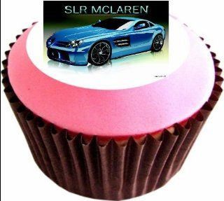 MERCEDES BENZ SLR McLAREN 12 x 38mm (1.5 Inch)Cake Toppers Edible wafer paper 2963   Decorative Cake Toppers