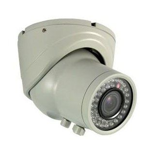 High Resolution Day/Night Vandal Resistant Dome Camera 2.8 12mm Vari Focal Lens White  Camera & Photo