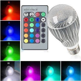 T Power ( 9W 9Watt E27 ) 16 Colors LED Magic Spot Light Bulb (for Holiday Decorations Christmas Xmas NEW YEAR Decorate Lighting Spotlight Halloween strobe, Dimmer glow & flash ) with Wireless Remote control Multi function   Led Household Light Bulbs