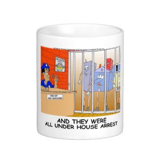 House Arrest Funny Police Mugs Tees Cards Gift Etc
