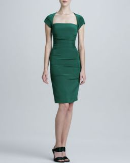 Square Neck Cocktail Dress   Nicole Miller