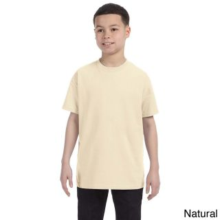 Gildan Gildan Youth Heavy Cotton T shirt Beige Size M (10 12)