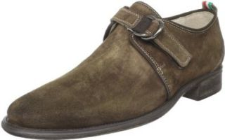 Bacco Bucci Men's Brennan Monk Strap,Brown,8.5 D US Shoes