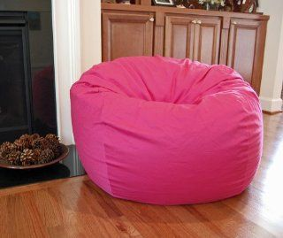 Hot Pink ORGANIC Cotton Washable Large Bean Bag Chair      Childrens Bean Bag Chairs