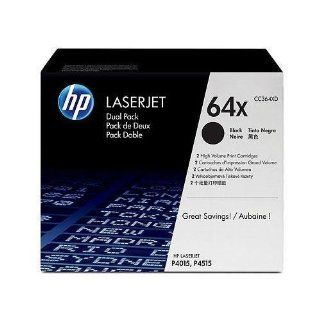 Hewlett Packard HP 64X LaserJet P4015, P4515 Series Smart Print Cartridge Dual Pack (24,000 x 2 Yield) (2 Pack of CC364X) (For Use in Models P4015, P4515), Part Number CC364XD