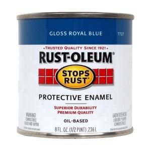 Rust Oleum Stops Rust 1 qt. Gloss Royal Blue Protective Enamel Paint (2 Pack) 7727502