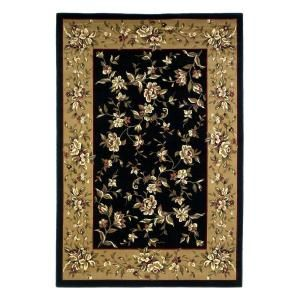 Kas Rugs Traditional Florals Black/Beige 9 ft. 10 in. x 13 ft. 2 in. Area Rug CAM7336910X132