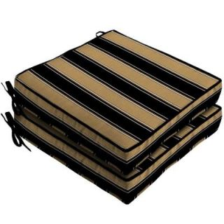 Hampton Bay Twilight Stripe with Roux Outdoor Seat Cushion (2 Pack) AC30412B 9D2