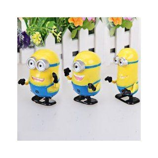 Animation Movie   Wind Up Toys Despicable Me 2 Minions The Gang Dave & Stuart & Kevin Cartoon Character Home Desk Table Shelf Decoration Collectible Birthday Gifts for Fan, Kids, Unisex Children