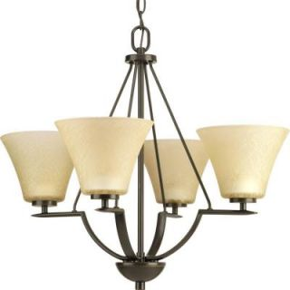 Progress Lighting Bravo Collection 4 Light Antique Bronze Chandelier P4622 20