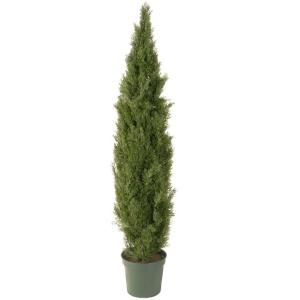 National Tree Company 72 in. Artificial Arborvitae Tree in Dark Green Round Growers Pot LMC4 700 72