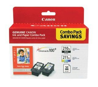 Canon 2973B004 Canon 2973B004 Combo Pack Saving with PG 210XL Black CL 211XL Color GP 502 50 sheets  Digital Camera Batteries  Camera & Photo