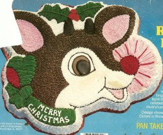 Wilton Rudolph the Red Nosed Reindeer Christmas Holiday Cake Pan (502 3347, 1981) Kitchen & Dining