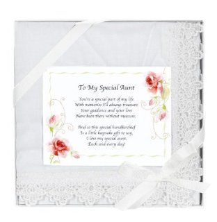 Mother's Day Gift   To a Special Aunt Keepsake Sentimental Hankie Gift with Poem  Beauty
