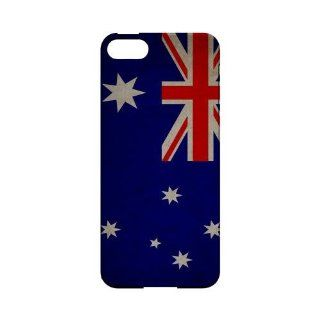 [Geeks Designer Line] Grunge Australia Apple iPhone 5 Plastic Case Cover [Anti Slip] Supports Premium High Definition Anti Scratch Screen Protector; Durable Fashion Snap on Hard Case; Coolest Ultra Slim Case Cover for iPhone 5 Supports Apple 5 Devices From